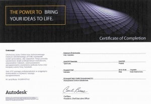 Certyfikat AutoCAD Essential